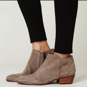 Sam Edelman Suede Chelsea Taupe Petty Booties 12